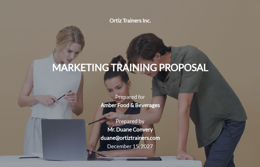Marketing Training Proposal Template