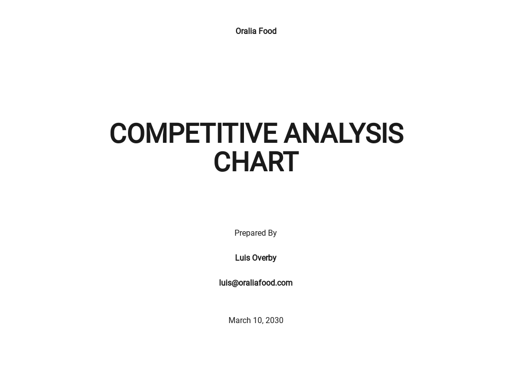 Competitive Analysis Chart Template