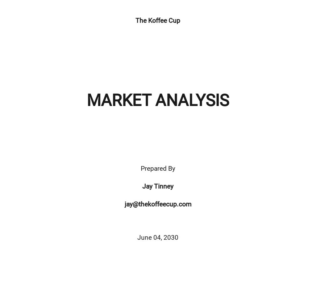 Target Market Analysis Example
