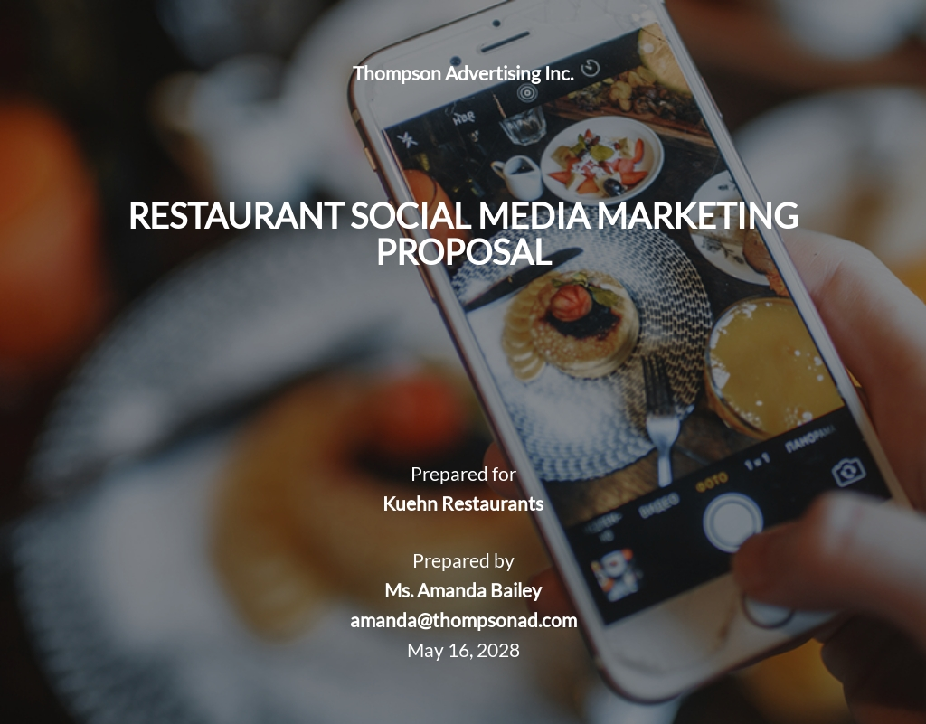 Restaurant Social Media Marketing Proposal Template
