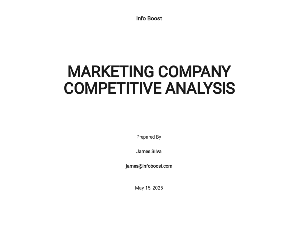 Content Marketing Competitive Analysis Template