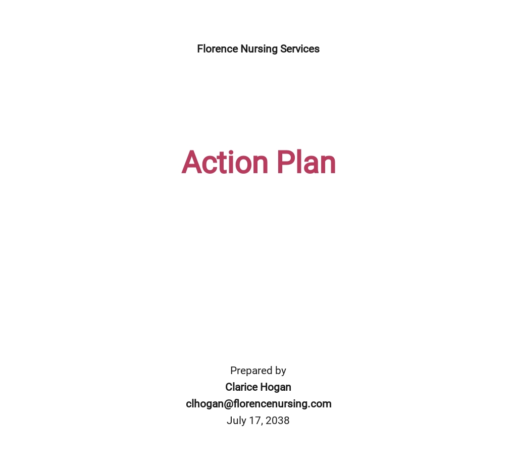 Free Nursing Action Plan Template