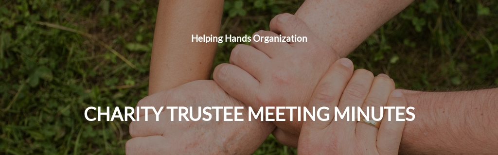 Charity Trustee Meeting Minutes Template