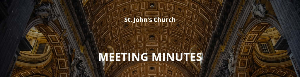 Church Finance Committee Meeting Minutes