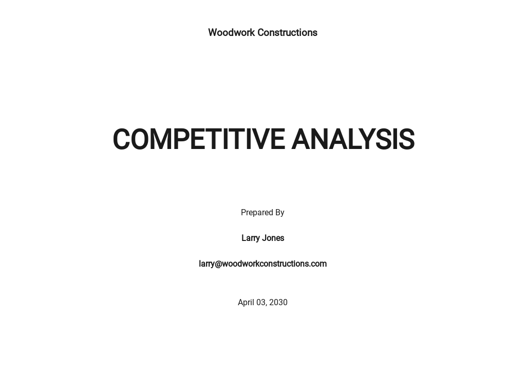 Construction Company Competitive Analysis Template