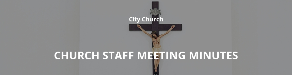 Church Staff Meeting Minutes Template